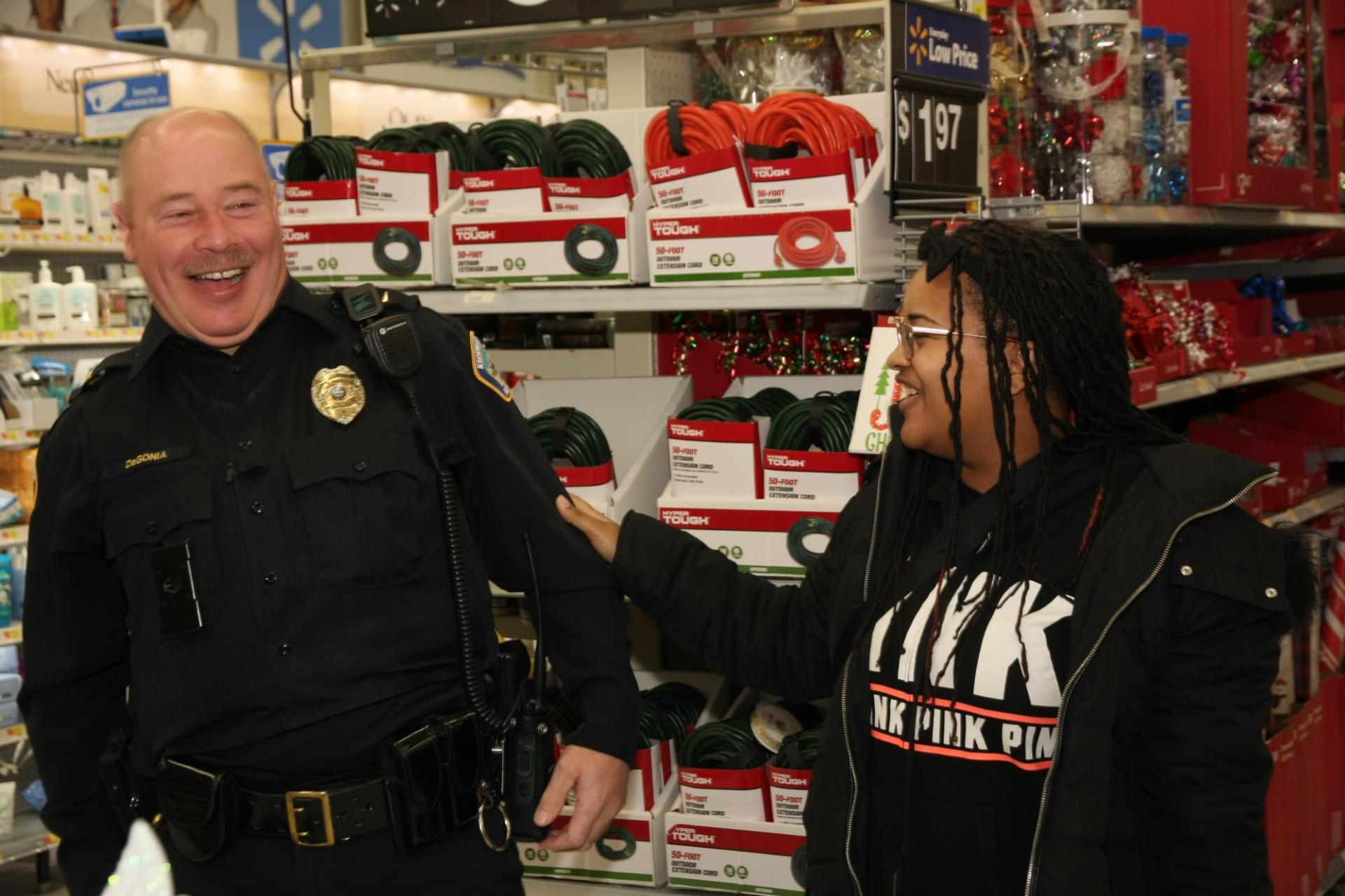 Police Officer at Shop with a Cop